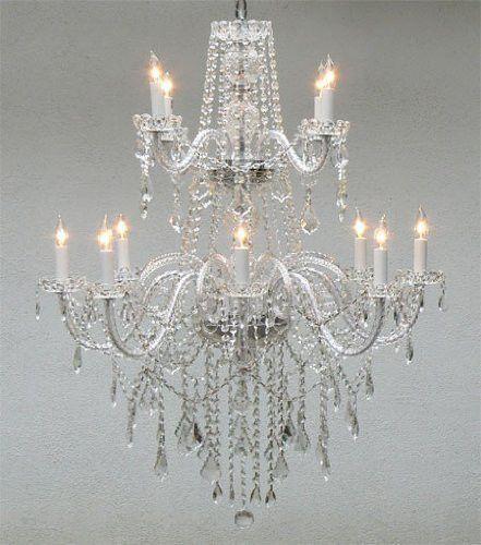 Swarovski Crystal Trimmed Chandelier! Authentic All Crystal Chandelier Lighting - A46-3/385/8+4 Sw