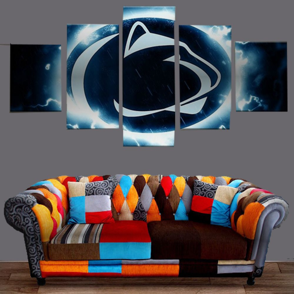 5pcs penn state nittany lions canvas prints painting wall
