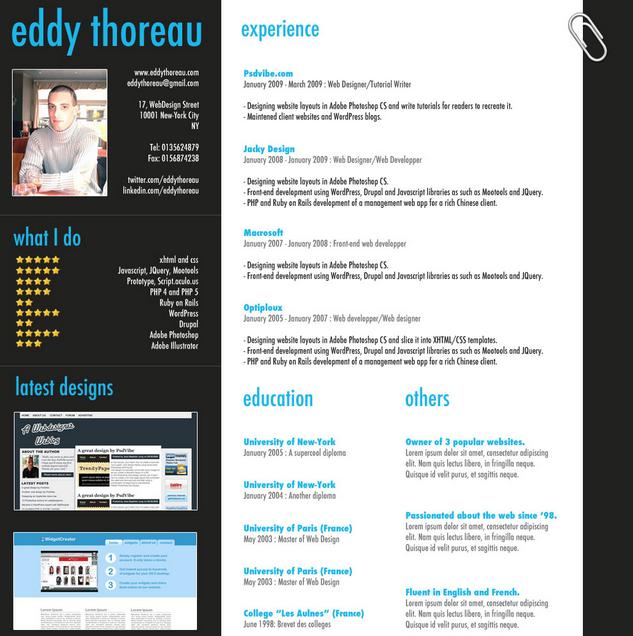 Classic professional curriculum vitae template | Creative resume ...
