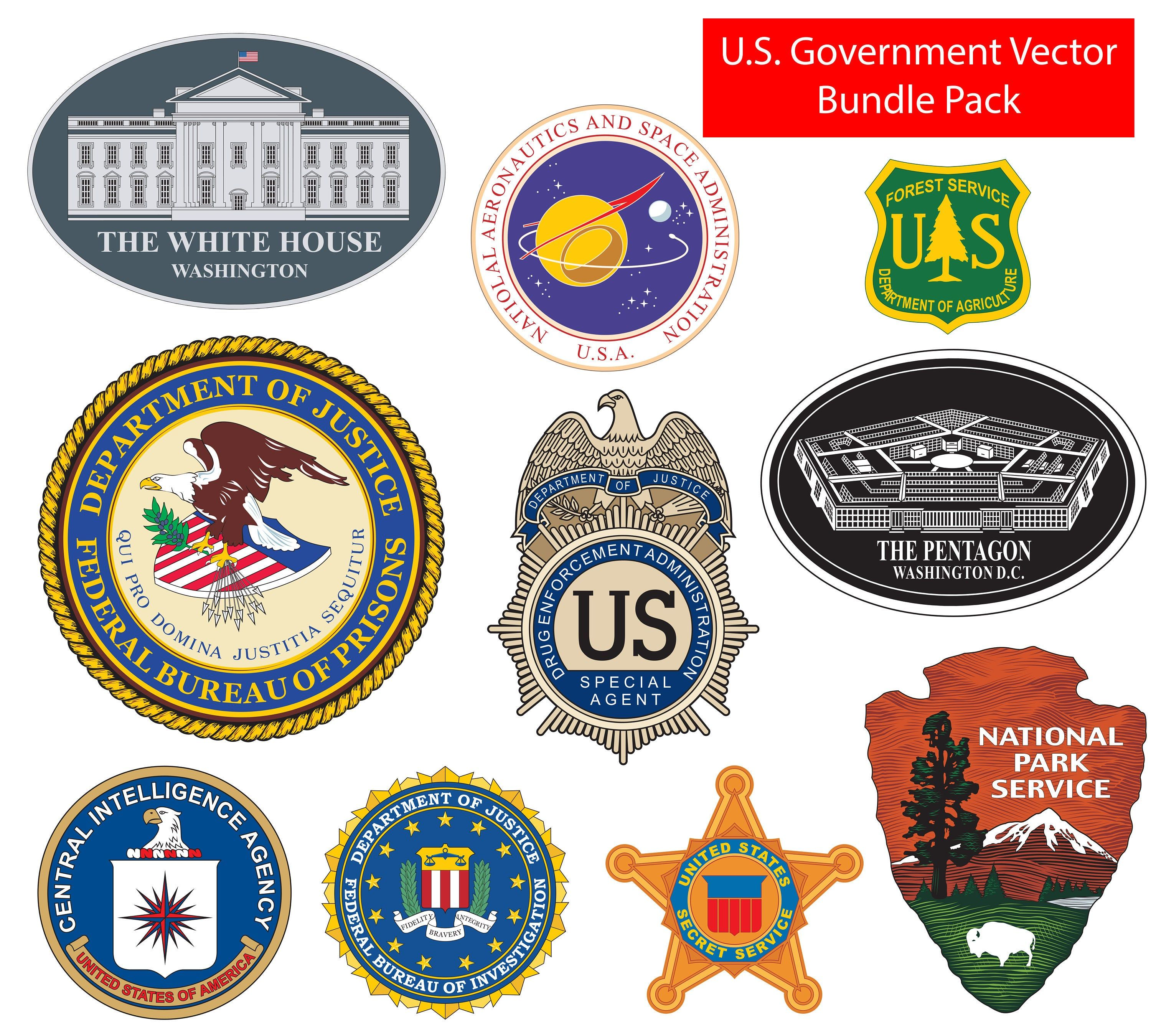 Over 80 U S Government Bureaus Agencies And Departments Seals Emblems Insignia Vector Files Government Eps Svg Bundle Pack Postal Service Logo Federal