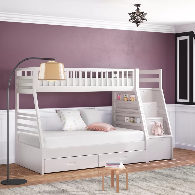 Pierre Twin Over Full Bunk Bed With Drawers Bunk Beds For Girls Room Bed For Girls Room Girls Bunk Beds