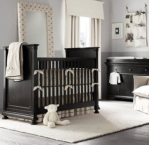 Dark Nursery Furniture Only Works If Everything Else Is Really Light And White