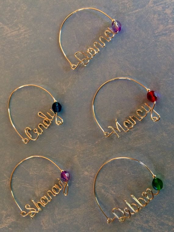 Wire Name Wine Charms Personalized Wine Charms by TrendyTrappings ...