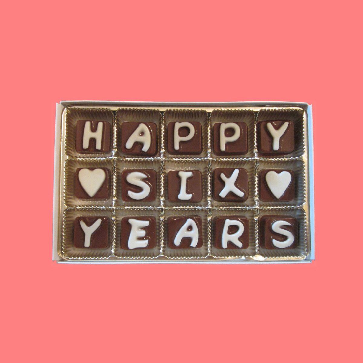 6th Sixth Wedding Anniversary Gift For Men Women Husband Hubby Wife Him Her Hy Six 6