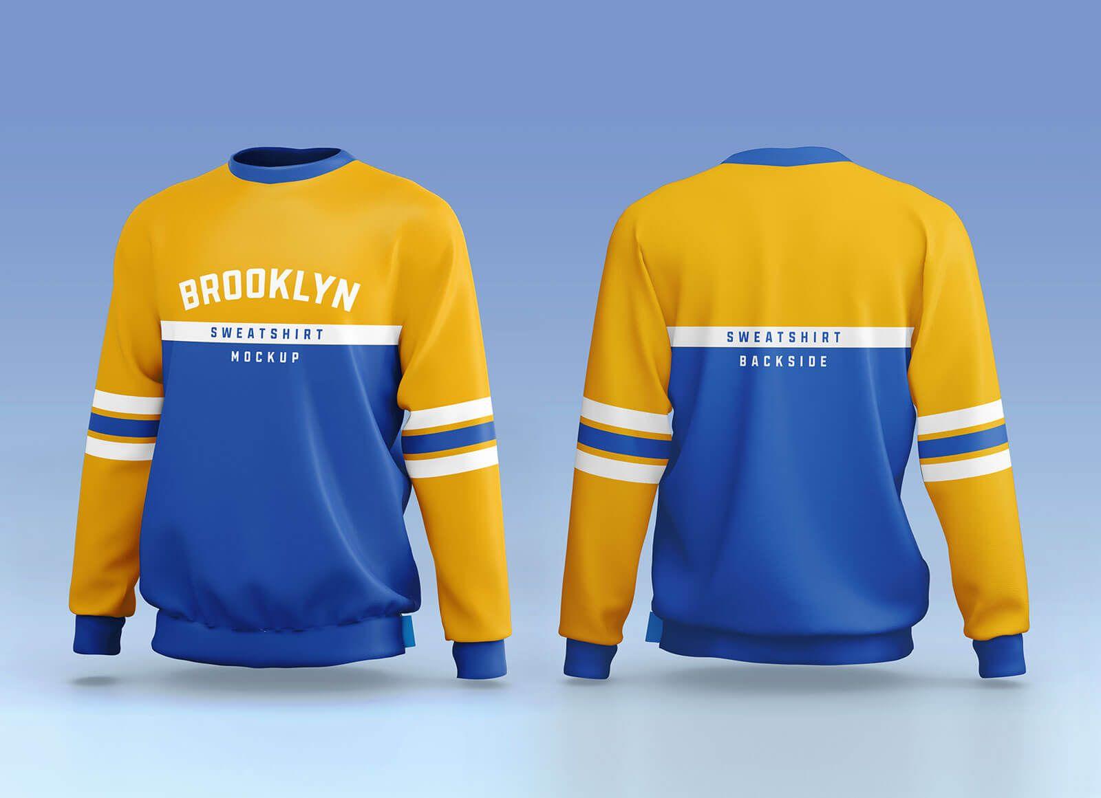 Free Sporty Crew Neck Full Sleeves Sweatshirt Mockup Psd Set Sweatshirts Full Sleeve Sweatshirt Designs