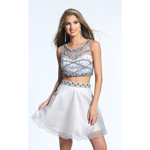Dave and Johnny 1942 After Prom Mini High Neckline Sleeveless ($250 ...