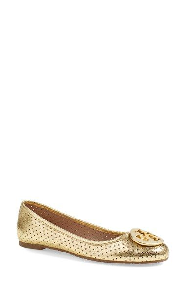 f5c2199b7d8 Tory Burch  Reva  Perforated Ballerina Flat (Women) available at  Nordstrom