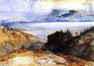 Yellowstone Lake (2) - (Thomas Moran)