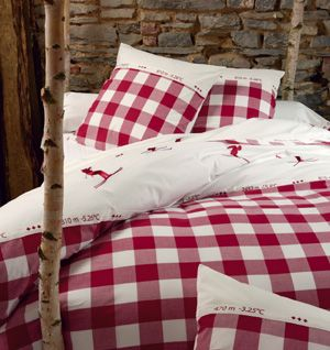 Housse De Couette En Coton Vichy Le Grand Saut Rouge Shopping For