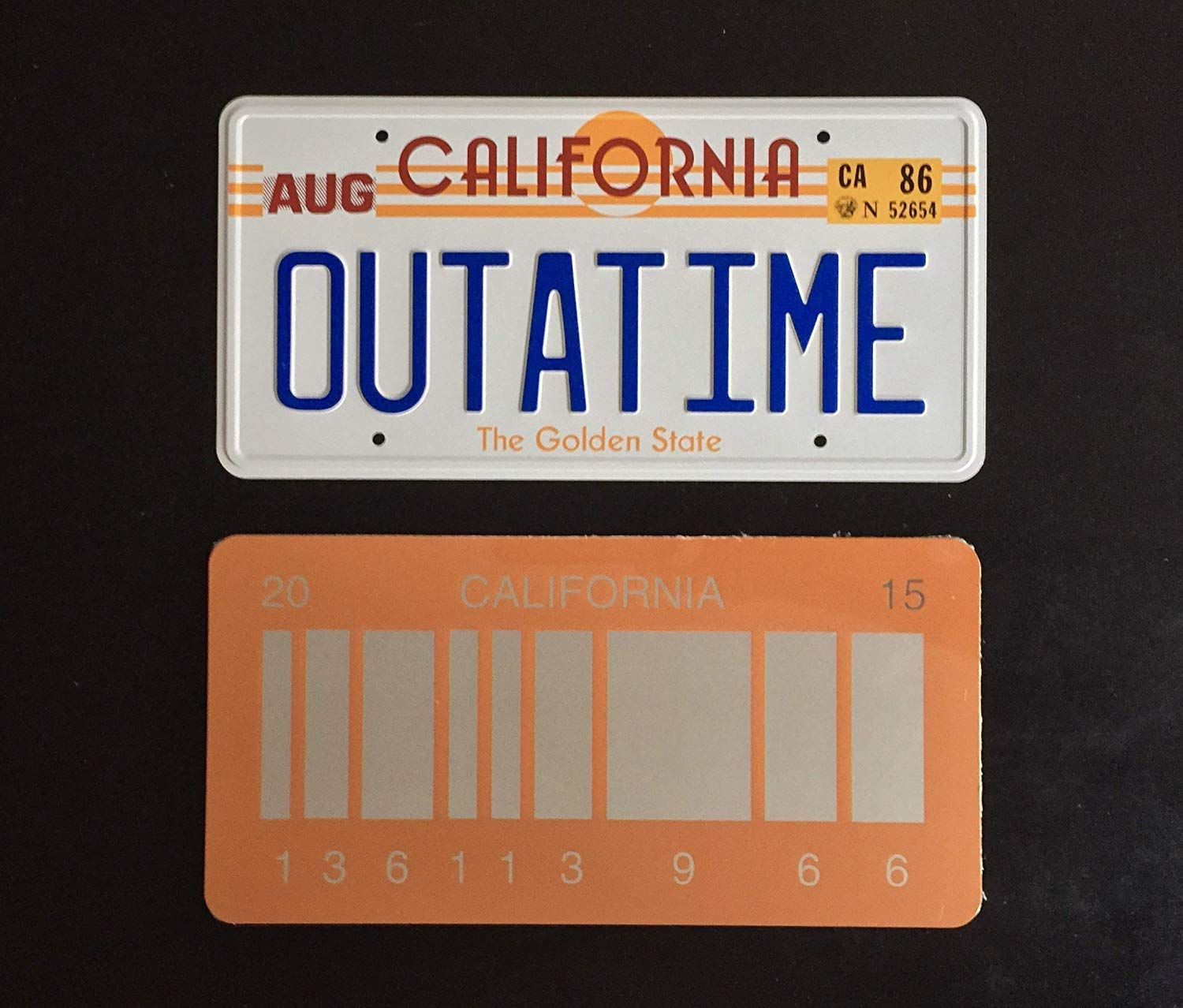 OUTATIME  Back To The Future Movie 80/'s Vintage looking   sticker  travel decal