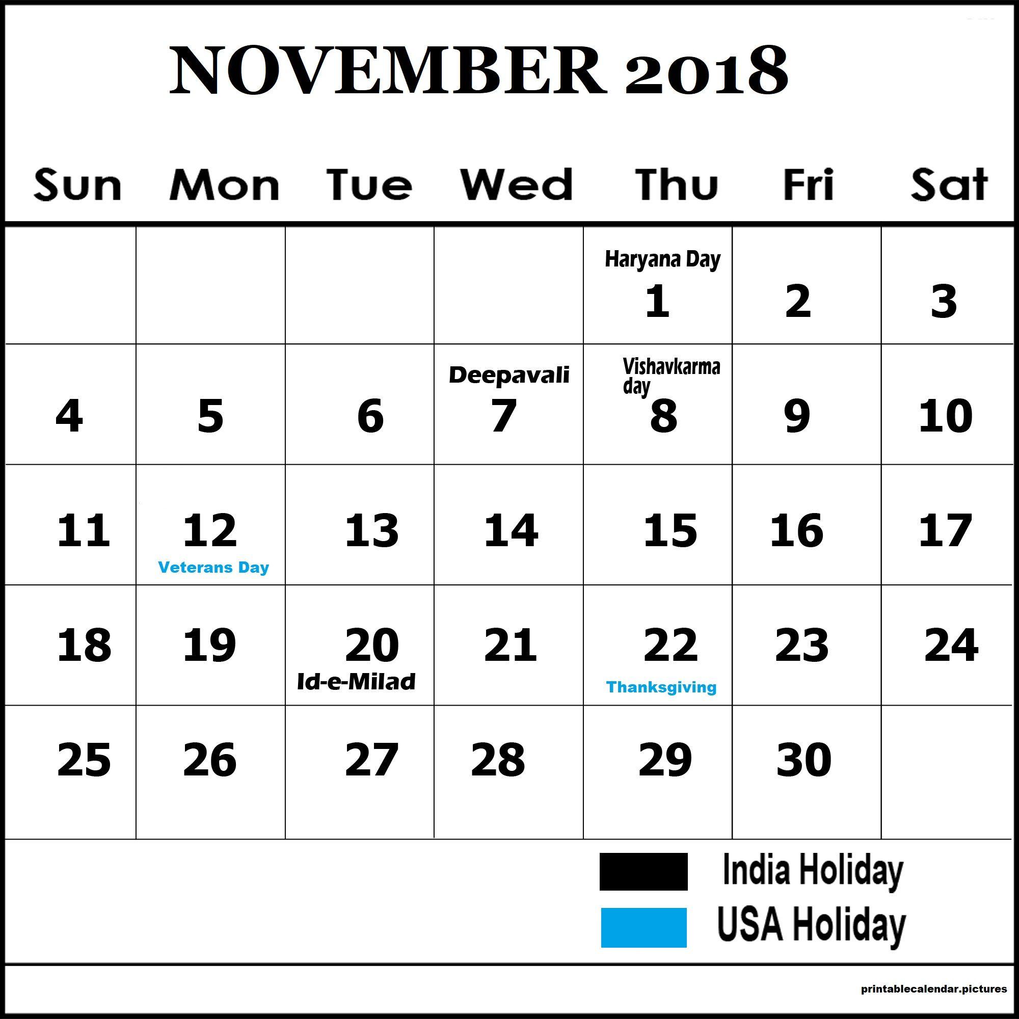november 2018 calendar india holidays calendar holidays india november