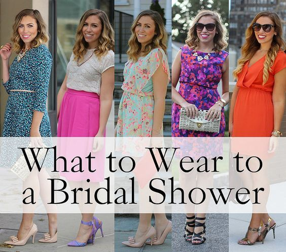 what to wear to a bridal shower wedding party engagement dress outfit fashion