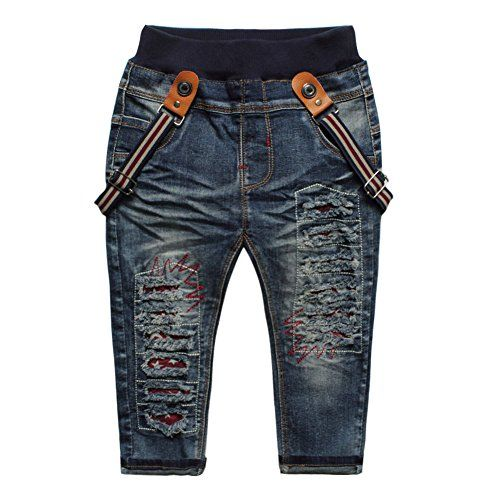 eTree Baby Girls Boys Cotton Trousers Letters Printing Denim Pants Jeans