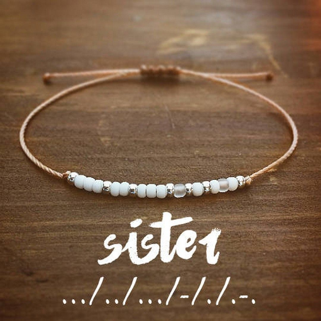 Youre the Sister I got to choose Best Friend Bracelet with Morse Code Message BFF Jewelry