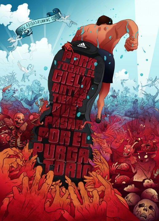 Adidas Ad Running Illustration Running Posters Running Art