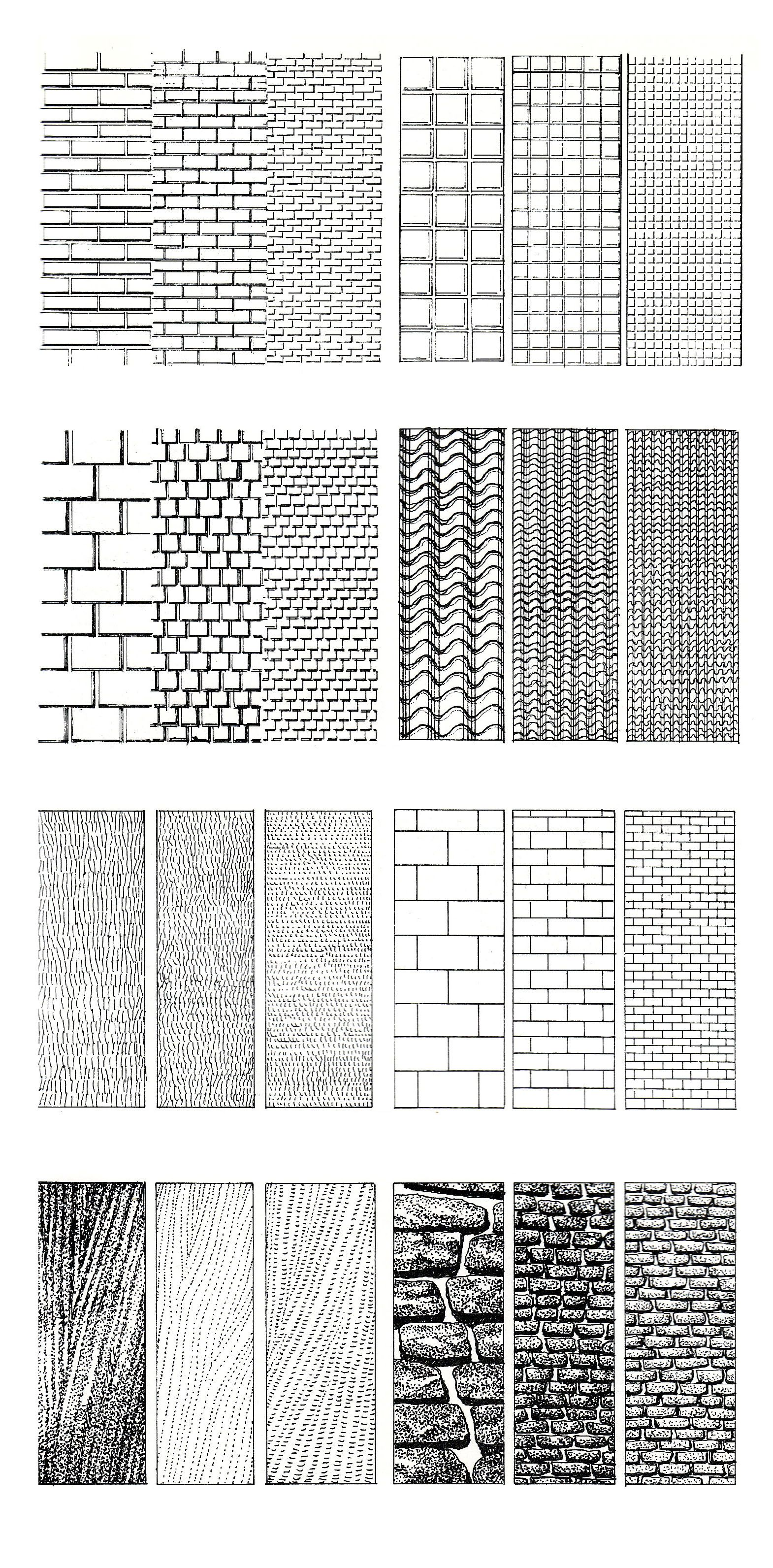 Learning To Illustrate Textures Techniques For Architects