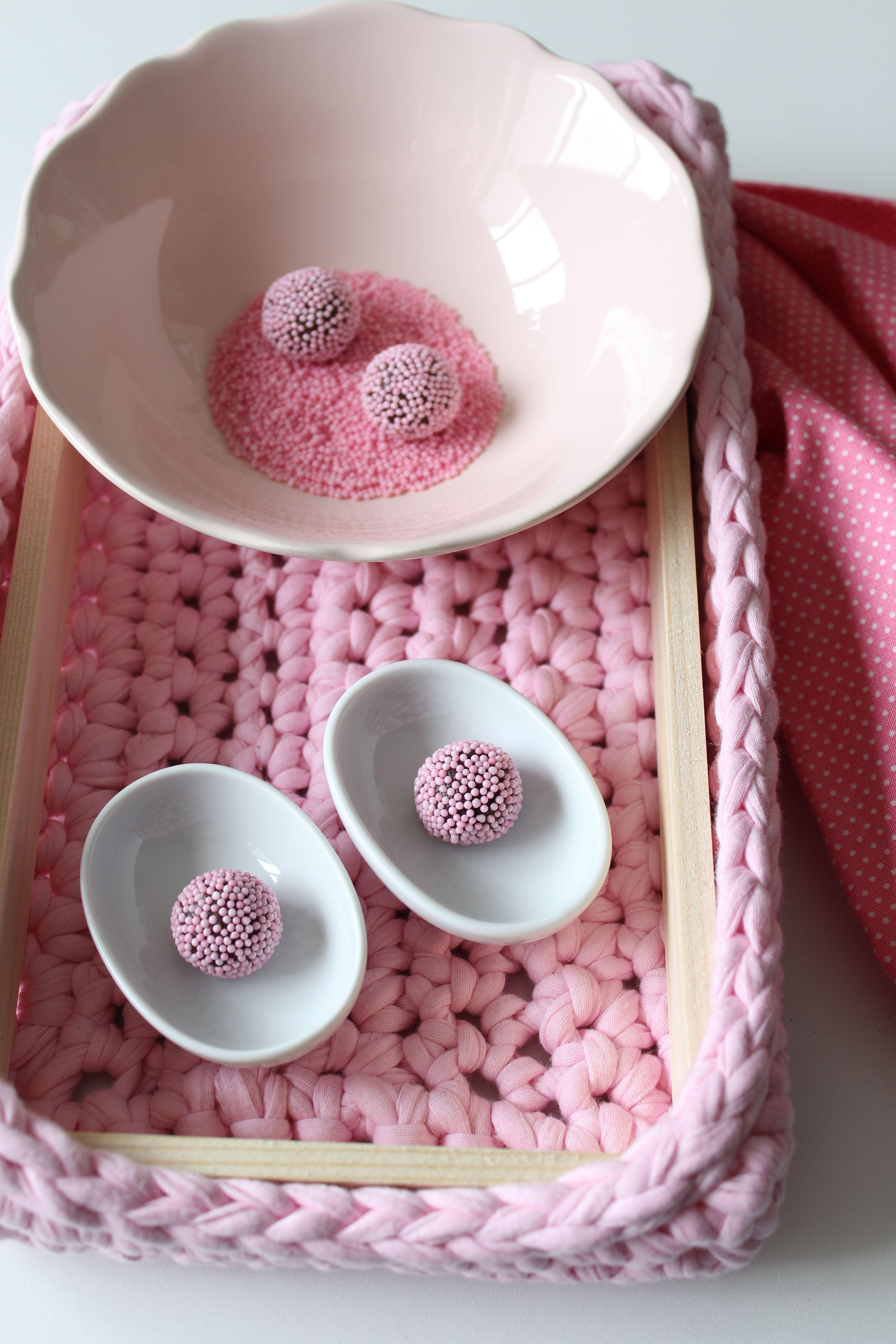 Pink brigadeiros (truffles)