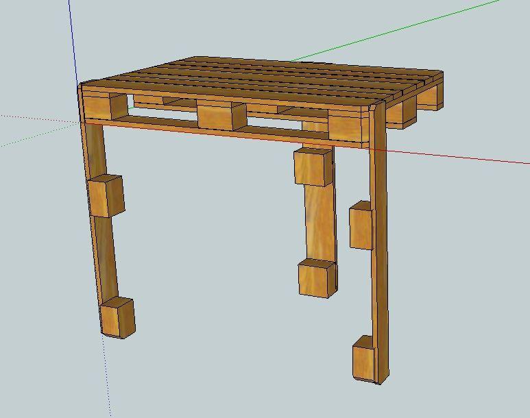 Muebles de palets hacer una mesa de trabajo para tu - Mesa de trabajo taller ...