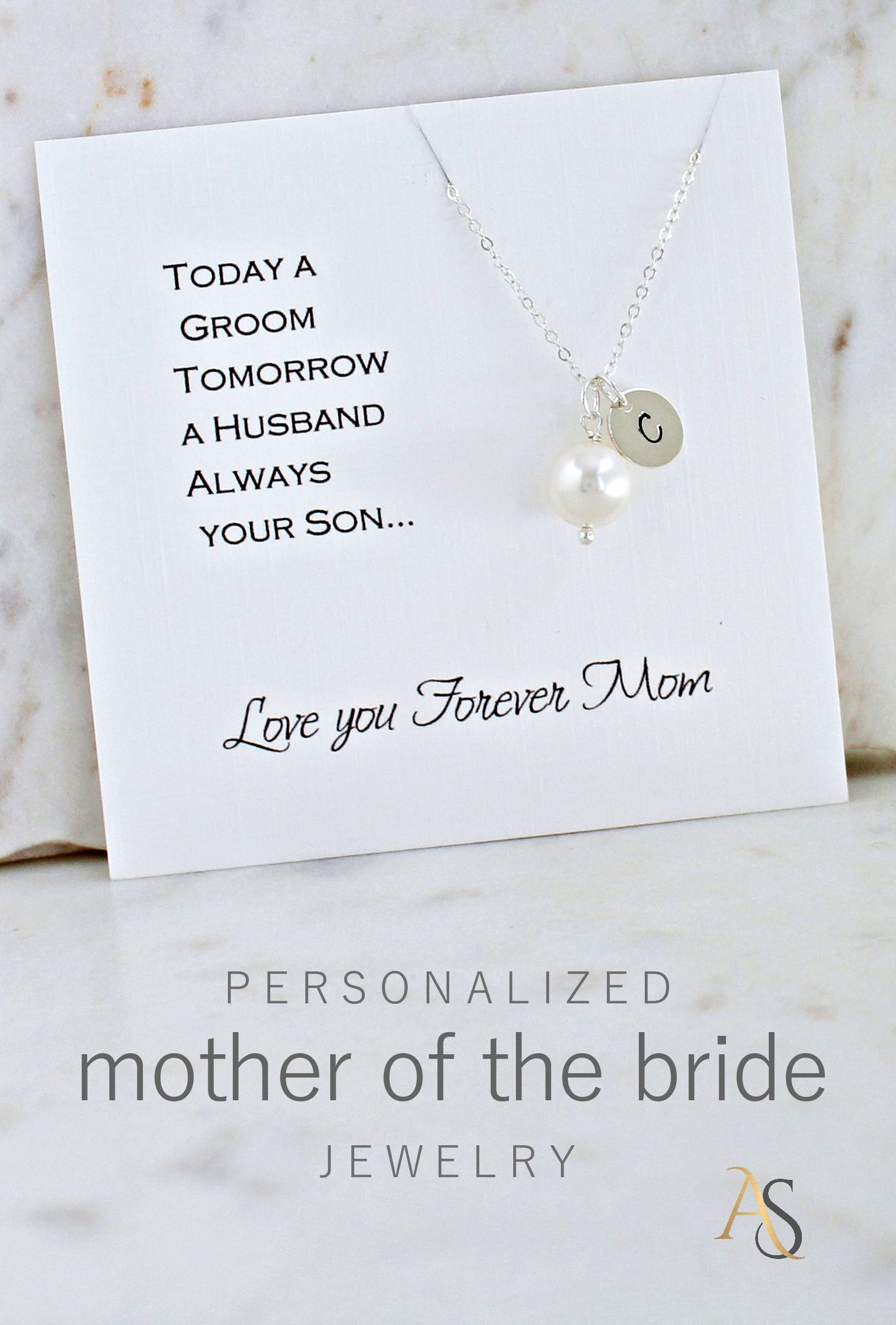 Mom of the Bride necklace mother of the Bride Brides mom wedding jewelry gift