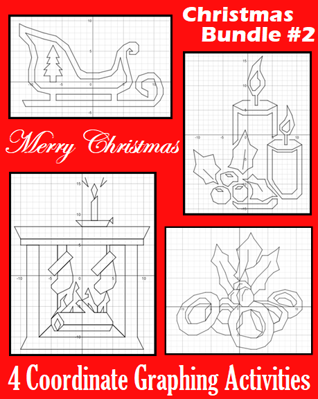 Christmas Bundle 2 4 Coordinate Graphing Activities