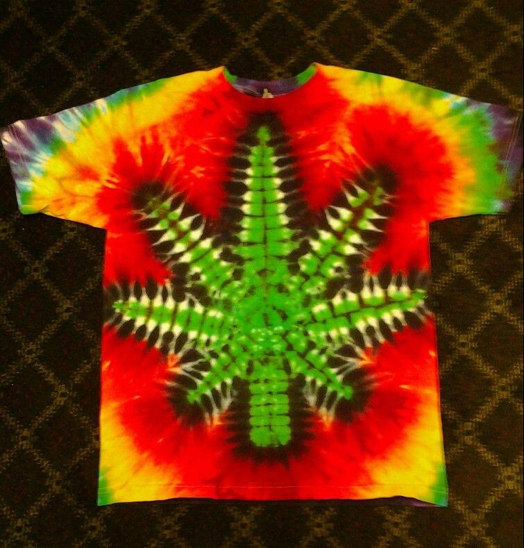 51429e2d32b07 Reggae leaf tie dye t shirt. | tie dye t shirts | Tie dye t shirts ...
