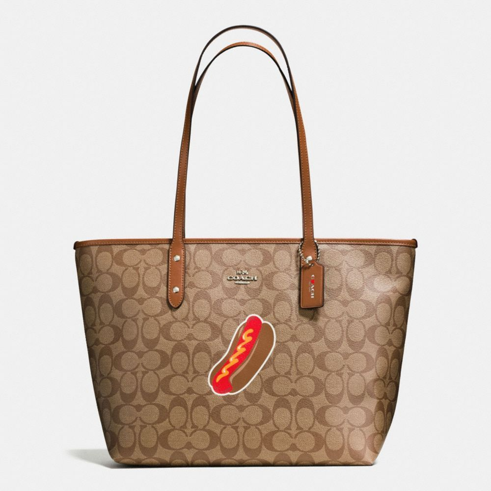 7b0f4fc52f Coach nyc hot dog city zip tote in signature