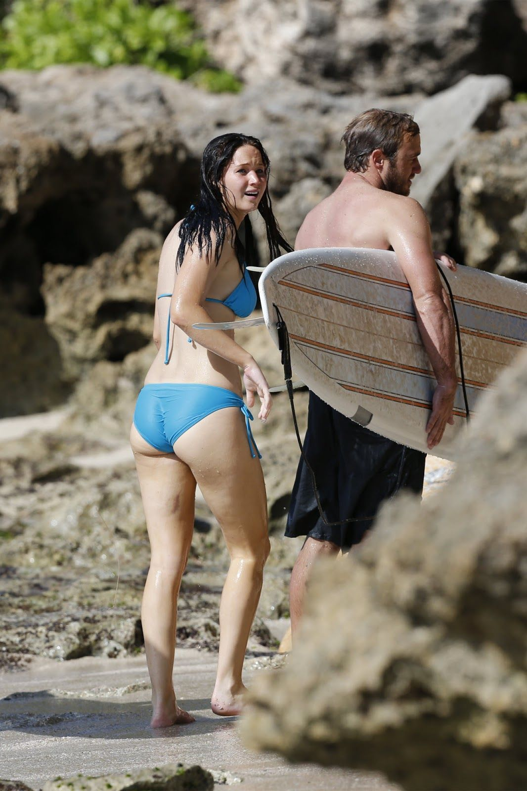 jennifer lawrence ass bikin | Jennifer Lawrence Bikini Candids & Ass Shot  at a Beach in Hawaii .