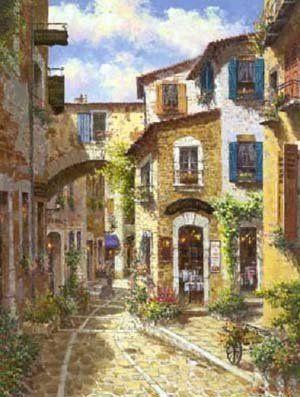 Landscape oil painting ,Venice Landscape, Hot,Contempor