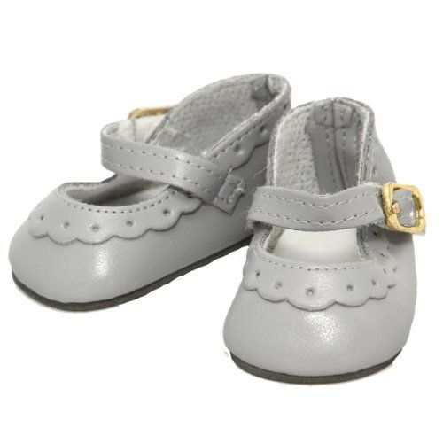 Buys By Bella's Gray Classic Ankle Strap Shoe for 18 Inch Dolls Like American Girl
