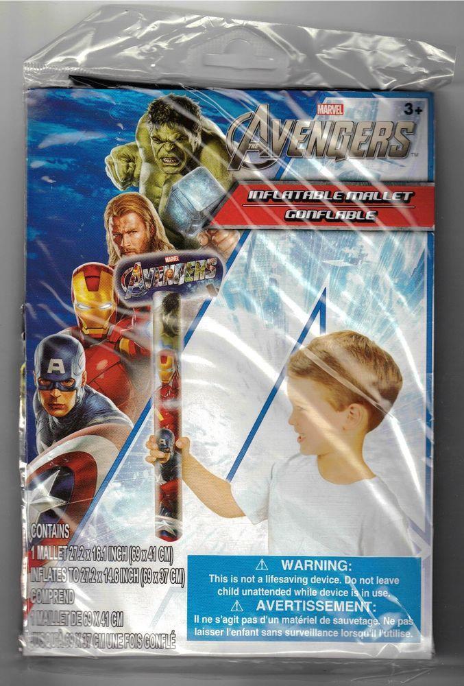 Marvel The Avengers Inflatable 27 Inch Mallet Brand New & Sealed - Iron Man Hulk #MarvelComicsTheAvengers