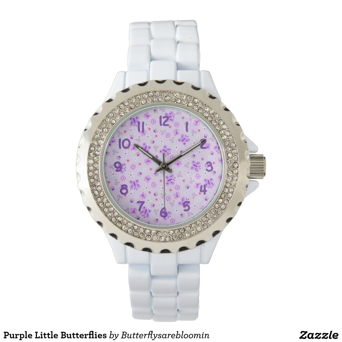 Purple Little Butterflies Wristwatch