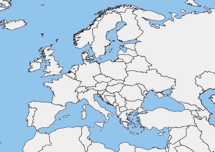 Cartina Muta Nord Europa.Risultati Immagini Per Cartina Muta Europa Mappe Europa E