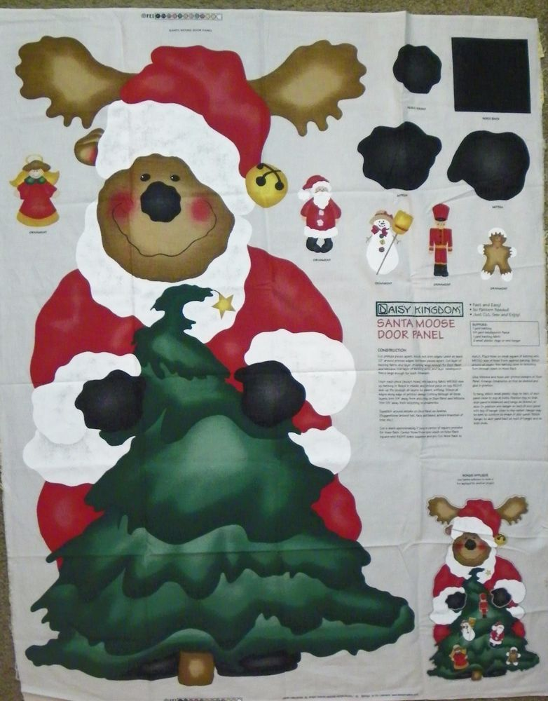 Daisy Kingdom Santa Moose Door Panel Sewing Crafting Christmas Decor #DaisyKingdom