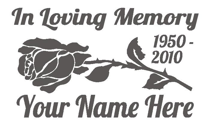In Loving Memory Rose Rectangle Sticker | In loving memory ...