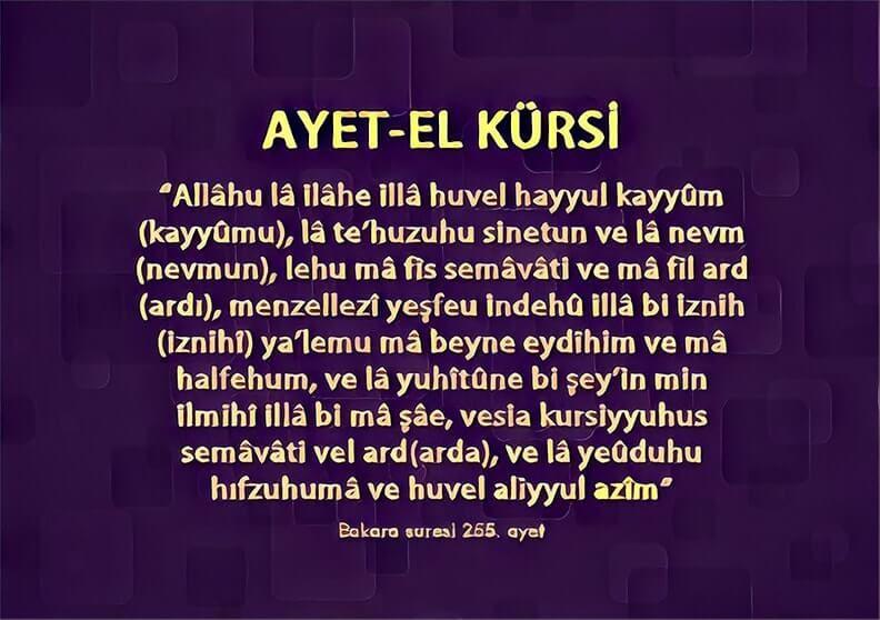 ayatul kursi sozleri azerice