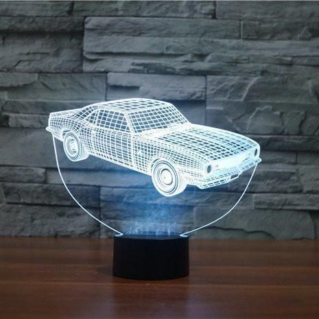 All Lampeez In 2020 Old Muscle Cars 3d Illusion Lamp Desk Light