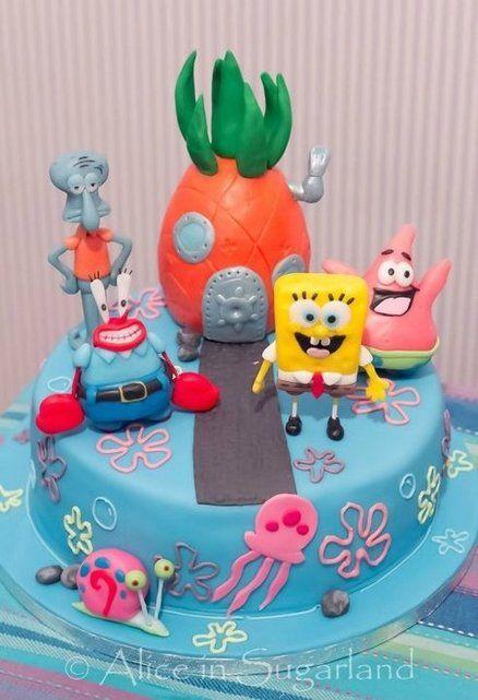 how to make a spongebob cake
