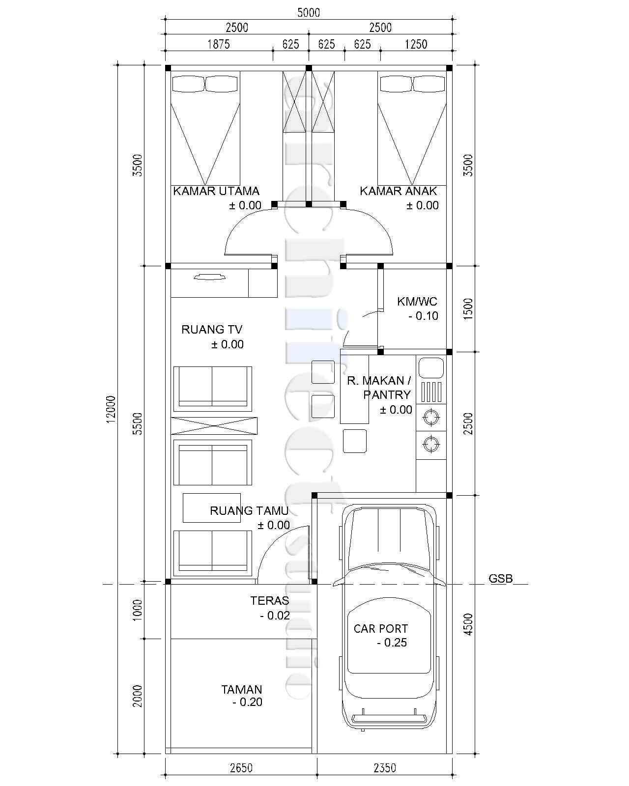 Pin Di Desain Rumah Minimalis Denah Modern 2 Lantai