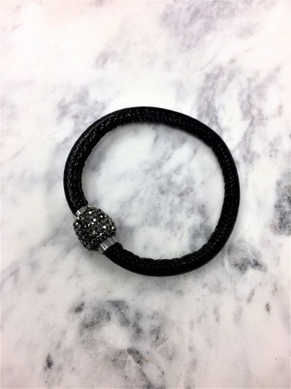Magnetic Faux Leather Bracelet by iiShiiDesigns on Etsy