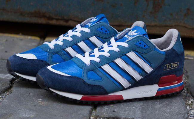 adidas zx 750 blu e bianche