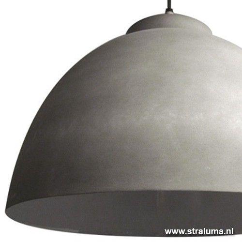 hanglampen hanglamp koepel beton keuken eettafel straluma