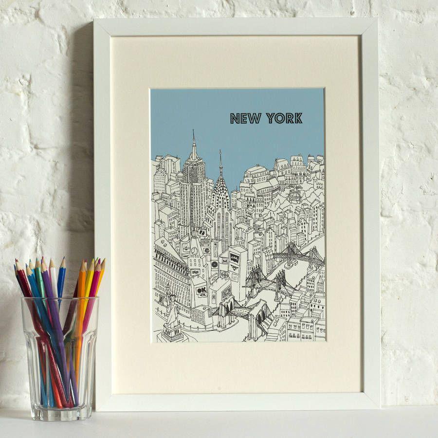 New York Screen Print
