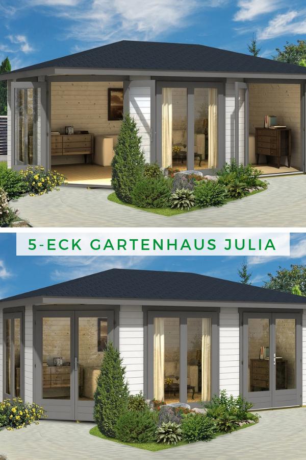 5Eck Gartenhaus Julia40 ISO Das große Gartenhaus mit