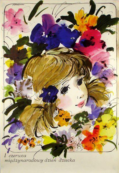International Children S Day 1 Czerwca Miedzynarodowy Dzien Dziecka By Januz Grabianski International Children S Day Drawing Illustrations Art
