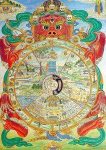 Tibetan Vintage Jigsaw Puzzle Wall Hanging Art