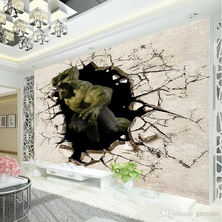Avengers Boys Bedroom photo wallpaper 3D Hulk Wall Mural Designer ...