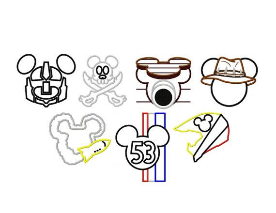 Design Set Of 7 Adventure Mouse Head Designs by PrevailDesigns, $5.00