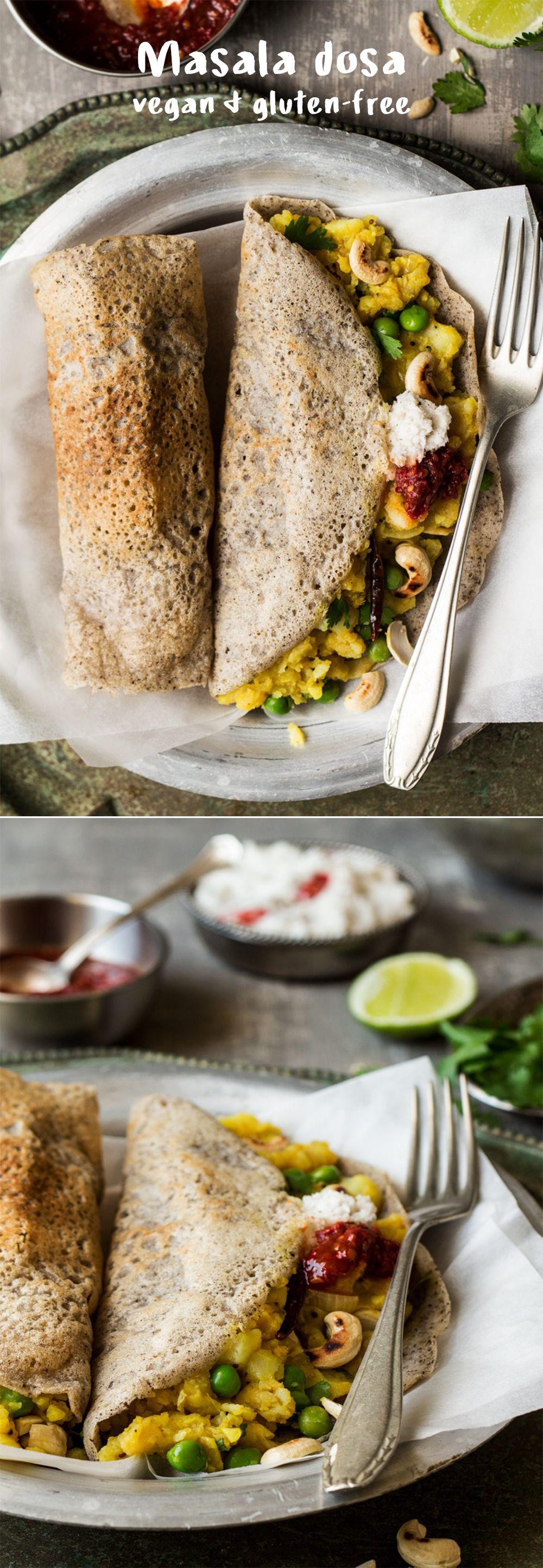 Vegan masala dosa Recipe Indian food recipes, Food