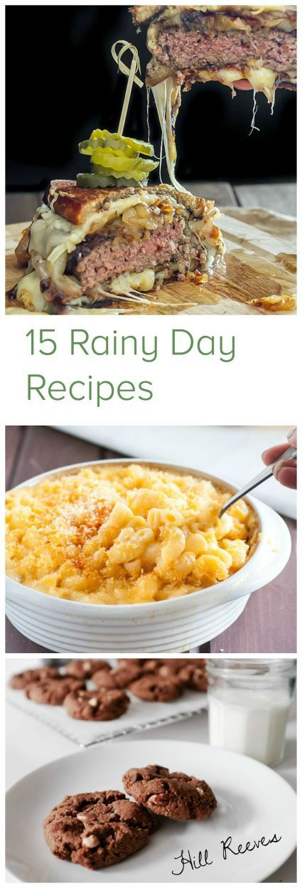 15 Rainy Day Recipes by food blogger friends! Burgers, mac and cheese, cookies, brownies and other comfort foods. Ooey, gooey, cheesy and indulgent, for those days you just want to curl up with some tea.