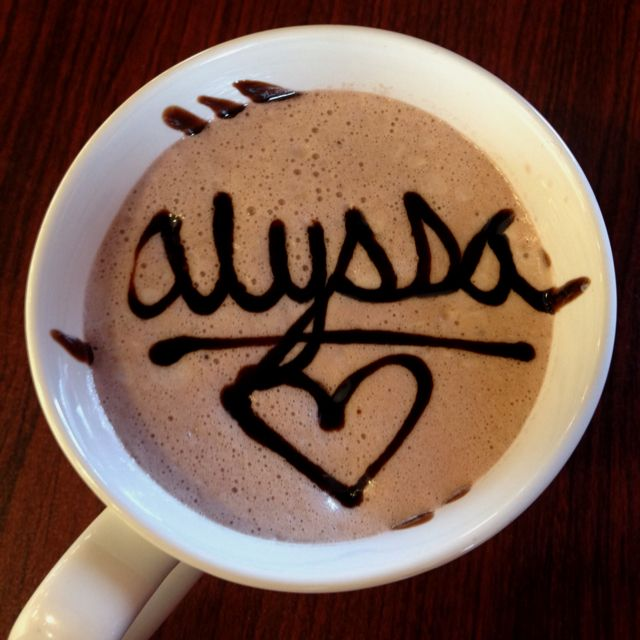 My name in hot cocoa!